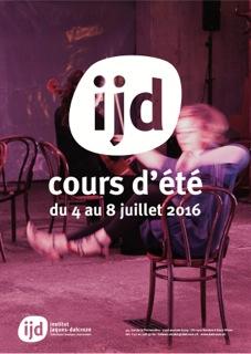 Flyer cours d'été IJD 2016